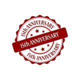 15th rocznicy stemplowa ilustracja Fotografia Royalty Free
