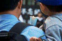 24th roku uczczenia ceremonia plac tiananmen masakra Obrazy Stock