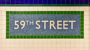 59th rua Columbus Circle Station, New York Foto de Stock