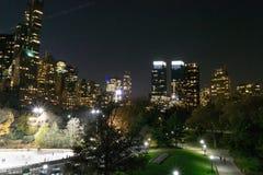 59th rua na noite Imagens de Stock