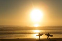 18th 2008 sätter på land surfarear för fotoet för önovember padre som tas texas Royaltyfria Bilder