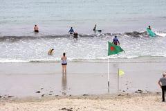 18th 2008 sätter på land surfarear för fotoet för önovember padre som tas texas Royaltyfri Foto