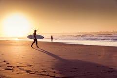 18th 2008 sätter på land surfarear för fotoet för önovember padre som tas texas Royaltyfri Bild