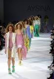 a 39th semana de moda ucraniana em Kiev Foto de Stock