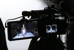 a 39th semana de moda ucraniana em Kiev Fotos de Stock