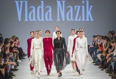 a 38th semana de moda ucraniana em Kyiv, Ucrânia Fotos de Stock Royalty Free