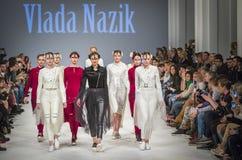 a 38th semana de moda ucraniana em Kyiv, Ucrânia Foto de Stock