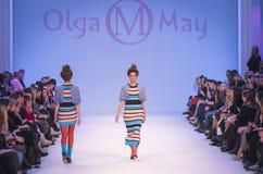 A 38th semana de moda ucraniana em Kyiv, Ucrânia Imagens de Stock