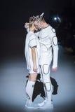 A 38th semana de moda ucraniana em Kyiv, Ucrânia Foto de Stock Royalty Free