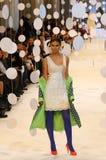 a 39th semana de moda ucraniana em Kyiv, Ucrânia Imagens de Stock