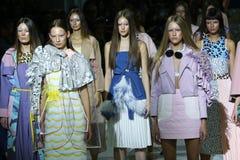 a 39th semana de moda ucraniana em Kyiv, Ucrânia Foto de Stock Royalty Free