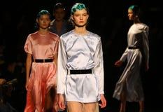 a 40th semana de moda ucraniana em Kyiv, Ucrânia Fotografia de Stock Royalty Free