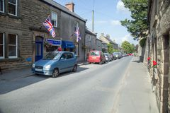 4th September 2017, youlgrave, Derbyshire, view of the High Street Royalty Free Stock Photos