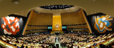 72th session of the UN General Assembly in New York Stock Photo