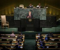 72th session of the UN General Assembly in New York Stock Image