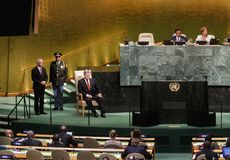 72th session of the UN General Assembly in New York Royalty Free Stock Photography