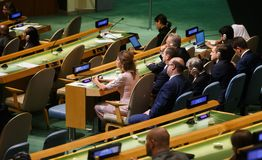72th session of the UN General Assembly in New York Royalty Free Stock Photos