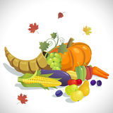 Th_sgivingD-01. Illustration for the Thanksgiving holiday on a white background Stock Photo
