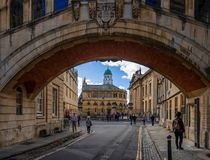 The Sheldonian Theatre and the Clarendon Building. stock photos
