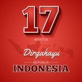 17th Sierpień, Długo żyje republiki Indonezja Indonezyjski republiki ` s dzień niepodległości ilustracji