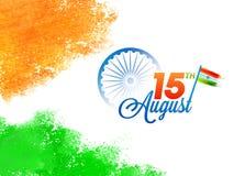 15th Sierpień, Indiański dnia niepodległości świętowania pojęcie z Jak Zdjęcia Royalty Free