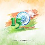 15th Sierpień, Indiański dnia niepodległości świętowania pojęcie z st Obraz Stock