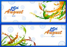 15th Sierpień, Szczęśliwy dzień niepodległości India tło Obrazy Stock