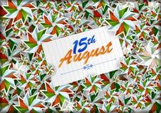 15th Sierpień, Szczęśliwy dzień niepodległości India tło Obraz Royalty Free
