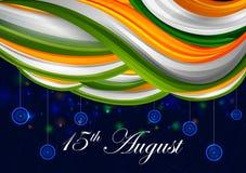 15th Sierpień, Szczęśliwy dzień niepodległości India tło Fotografia Stock