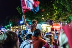 30th Sierpniowa Turecka zwycięstwo dnia parada Przy nocą Zdjęcia Royalty Free