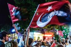 30th Sierpniowa Turecka zwycięstwo dnia parada Przy nocą Obrazy Stock