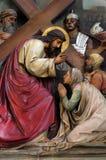 8th stacje krzyż, Jezus spotykają córki Jerozolima obrazy royalty free