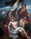 13th stacje krzyż, Jezusowy ` ciało usuwają od krzyża Zdjęcia Royalty Free