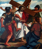 6th stacje krzyż Obrazy Royalty Free