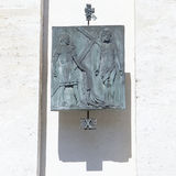 10th station. Of the Cross, the Passion of Our Lord Jesus Christ Royalty Free Stock Images