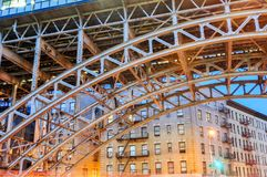 125th station de métro de rue - New York City Images libres de droits