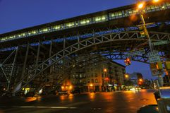 125th station de métro de rue - New York City Photo stock