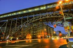 125th station de métro de rue - New York City Photos libres de droits