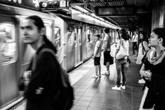 34th station för gataHudson Yards gångtunnel New York royaltyfria foton