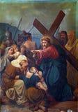 8th stationer av korset Arkivbild