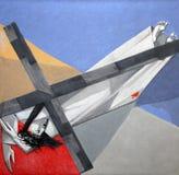 9th stationer av korset, Jesus faller den tredje gången Royaltyfri Foto
