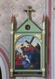 8th stationer av korset, Jesus möter döttrarna av Jerusalem Arkivbilder