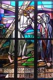 4th stationer av korset, Jesus möter hans moder Arkivbilder
