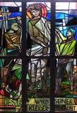 10th stationer av korset, Jesus rivs av av hans plagg Arkivfoto