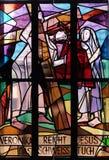6th stationer av korset, Veronica torkar framsidan av Jesus Royaltyfri Bild