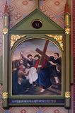 6th stationer av korset, Veronica torkar framsidan av Jesus Royaltyfri Fotografi