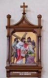 6th stationer av korset, Veronica torkar framsidan av Jesus Royaltyfri Foto