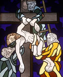13th Stations of the Cross, Jesus body is removed from the cross Stock Image