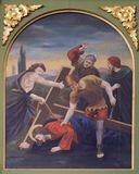 7th Stations of the Cross, Jesus falls the second time Stock Photography