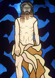 10th Stations of the Cross. Jesus is stripped of His garments Stock Photo
